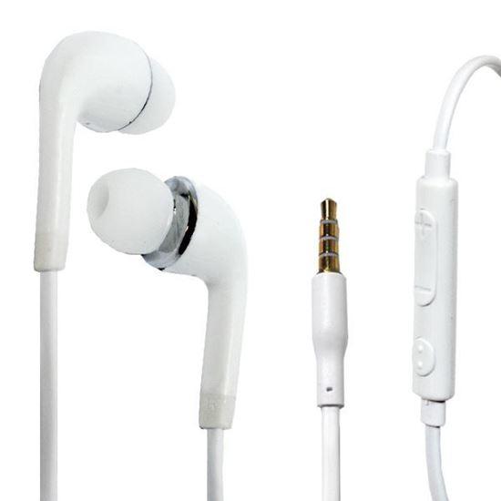 Изображение HF гарнитура под оригинал для Samsung J5 Micro USB вакуумная белая в тех.упаковке