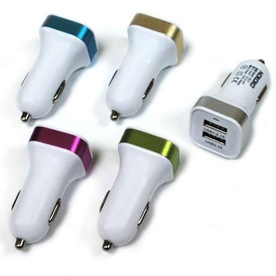 Изображение Автомобильный адаптер 2 USB в пакете IRON Selection квадратный (2.1A и 1А)