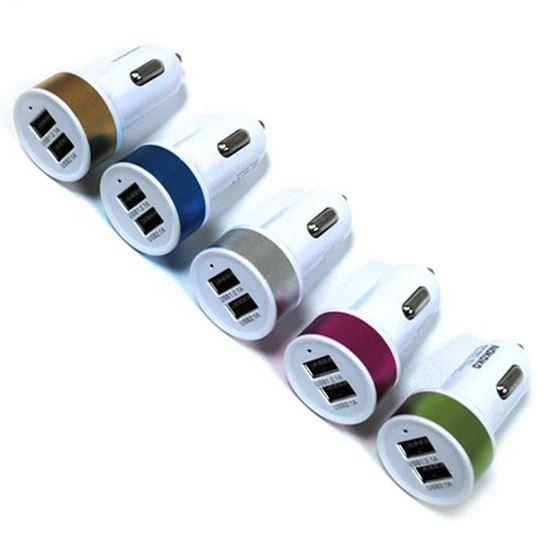 Изображение Автомобильный адаптер 2 USB в пакете IRON Selection круглый (2.1A и 1А)