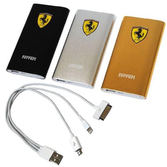 Изображение Портативное з/у - аккумулятор с переходниками Power Bank (6900 mAh) F69 Ferrari