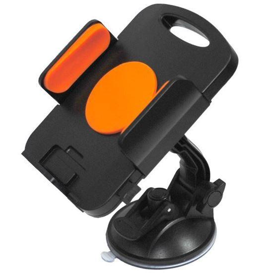 """Изображение Автодержатель на ножке для планшета 7""""-11"""" ZYZ-139 чёрно-оранжевый"""