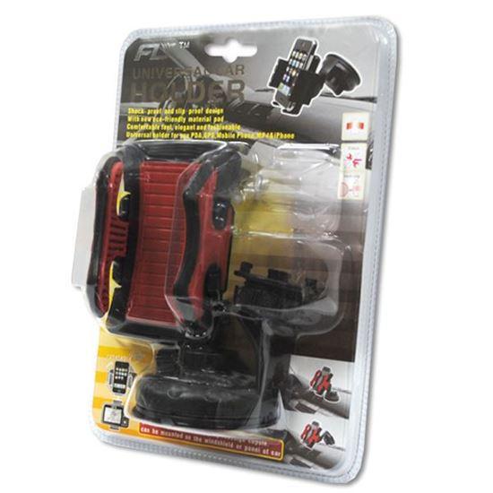 Изображение Автодержатель на ножке прорезиненый чёрно-красный в блистере
