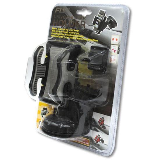 Изображение Автодержатель на ножке прорезиненый чёрно-серый в блистере