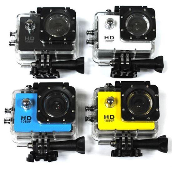 Изображение Камера Action SJ4000 (1920*1080, Full HD 1080р, 1,5-inch LCD) набор крепл. - жёлтая