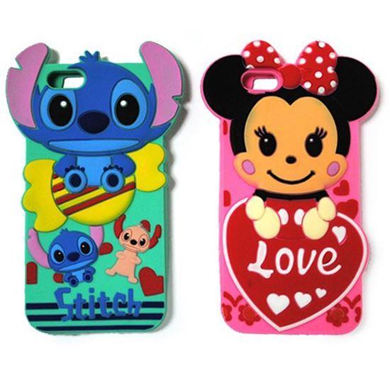Изображение Задняя панель для iPhone 5/5S резиновая Minnie Mouse Love