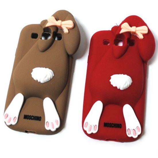 Изображение Задняя панель для iPhone 5/5S резиновая кролик красный