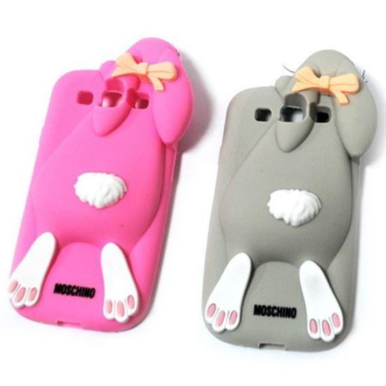 Изображение Задняя панель для iPhone 6 резиновая Кролик серый