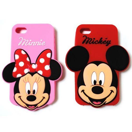 Изображение Задняя панель для iPhone 6 резиновая Minnie на розовом