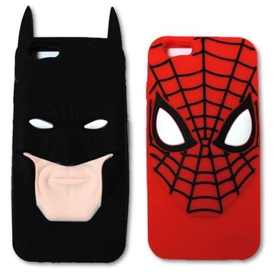 Изображение Задняя панель для iPhone 6 резиновая Spider-man face