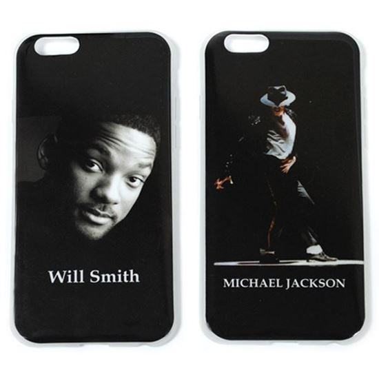 Изображение Задняя панель для iPhone 6 силикон лаковый Michael Jackson