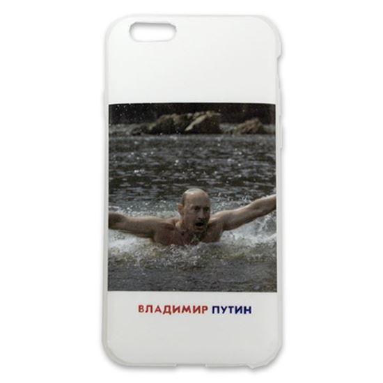Изображение Задняя панель для iPhone 6 силикон лаковый Владимир Путин № 8