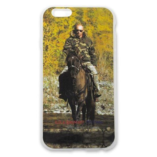 Изображение Задняя панель для iPhone 6 силикон лаковый Владимир Путин № 7