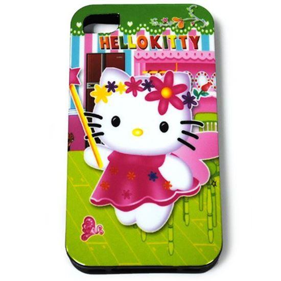 Изображение Задняя панель для iPhone 5/5S силикон лаковый Hello Kitty