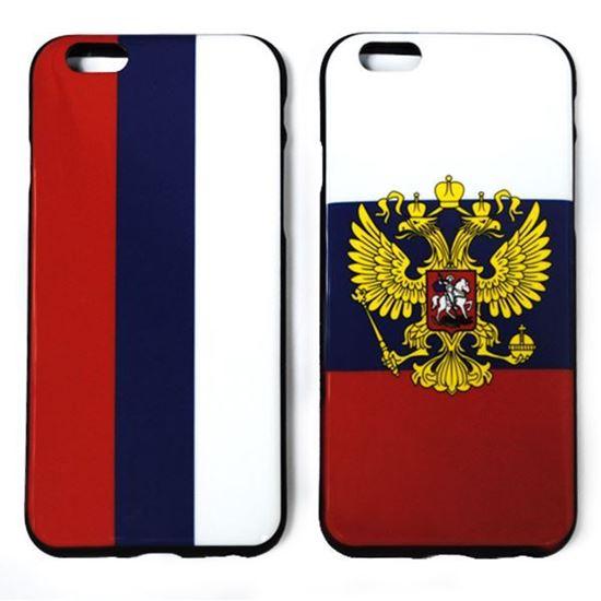 Изображение Задняя панель для iPhone 6 силикон лаковый Флаг России
