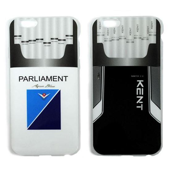 Изображение Задняя панель для iPhone 6 силикон лаковый Пачка сигарет Kent чёрный