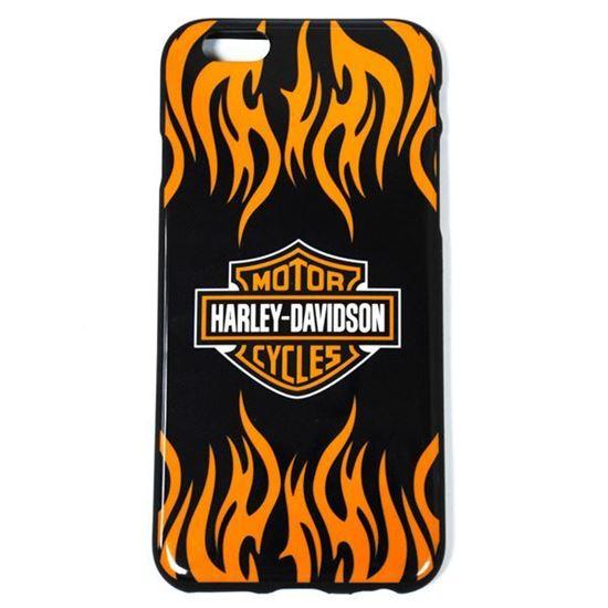 Изображение Задняя панель для iPhone 6 силикон лаковый Логотип Harley Davidson