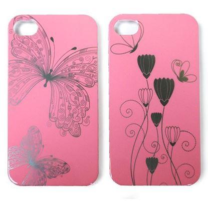 Изображение Задняя панель для iPhone 5/5S пластиковaя лаковая розовая Колокольчик на закате