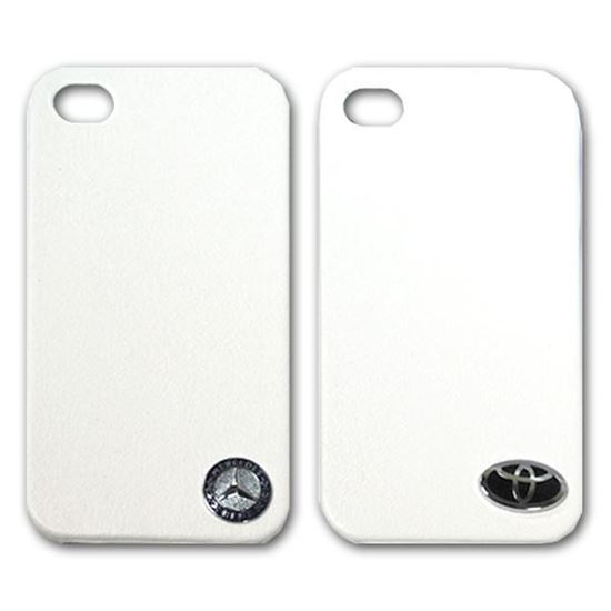 Изображение Задняя панель для iPhone 5/5S пластиковая с кожей и лoготипом Mercedes белая