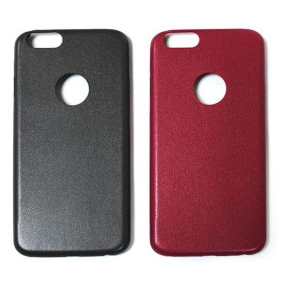 Изображение Задняя панель для iPhone 6 кожаная с окошком красная