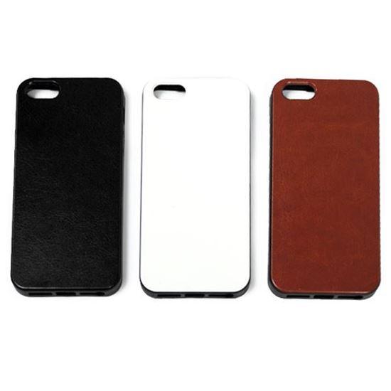 Изображение Задняя панель для iPhone 6 резиновая с кожей чёрная