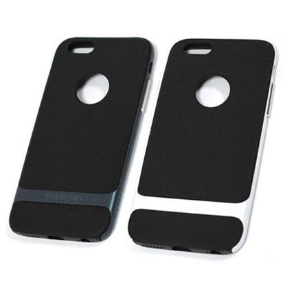 Изображение Задняя панель для iPhone 6 Spigen прорезиненная с окошком чёрно-белая