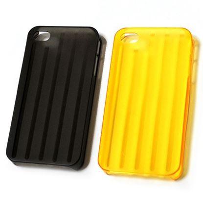 Изображение Задняя панель для Samsung i9500 Galaxy S4 (твердый полосатый пластик) жёлтая