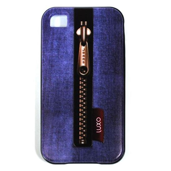 Изображение Задняя панель для iPhone 4/4S резиновая с бампером Jeans Luxo