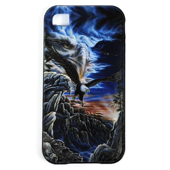 Изображение Задняя панель для iPhone 4/4S резиновая с бампером Орёл