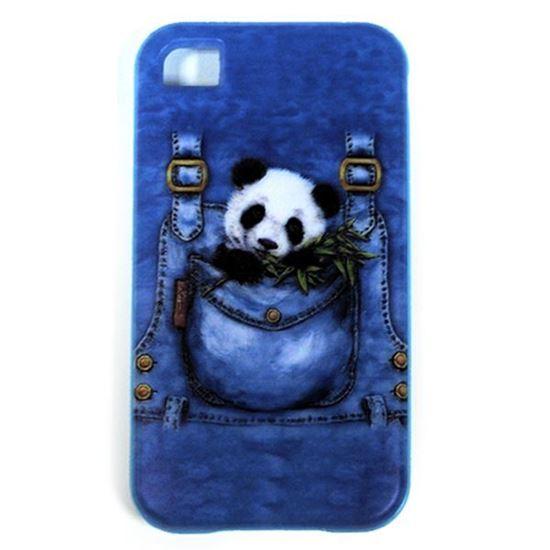 Изображение Задняя панель для iPhone 4/4S резиновая с бампером Панда