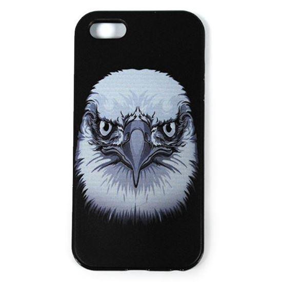 Изображение Задняя панель для iPhone 5/5S рeзиновая с бампером Face Орел