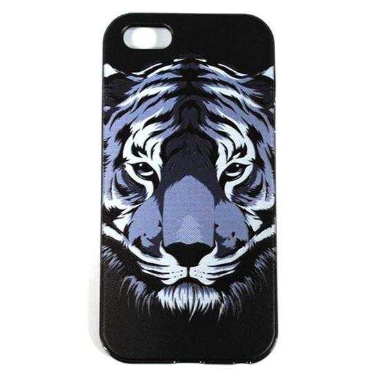 Изображение Задняя панель для iPhone 5/5S рeзиновая с бампером Face Тигр
