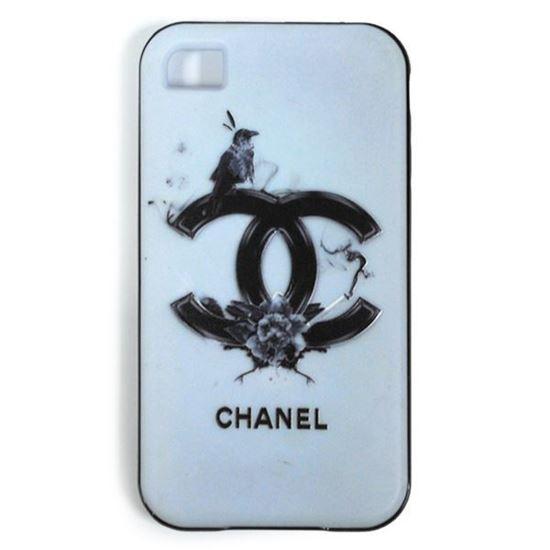 Изображение Задняя панель для iPhone 5/5S резиновая с бампером Chanel