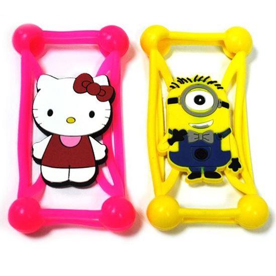Изображение Бампер резиновый универсальный IRON Selection Hello Kitty с бантиком розовый