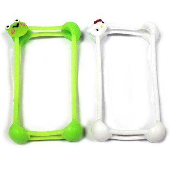 Изображение Бампер резиновый универсальный IRON Selectiоn Лягушонок мини зелёный