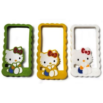 Изображение Бампер резиновый для iPhone 4/4S Hello Kitty жёлтый