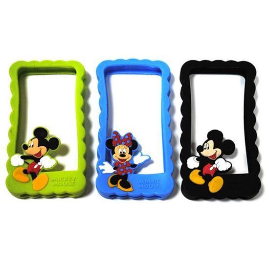 Изображение Бампер резиновый для iPhone 4/4S Mickey Mouse бирюзовый