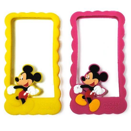 Изображение Бампер резиновый для iPhone 4/4S Mickey Mouse малиновый