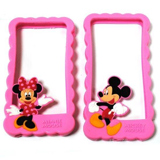 Изображение Бампер резиновый для iPhone 4/4S Mickey Mouse розовый