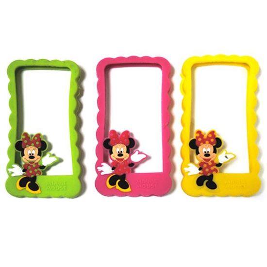 Изображение Бампер резиновый для iPhone 4/4S Minnie Mouse малиновый