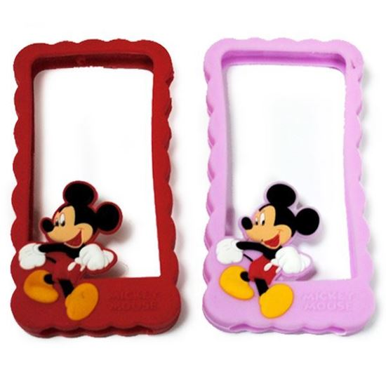 Изображение Бампер резиновый для iPhone 5/5S Mickey Mouse красный