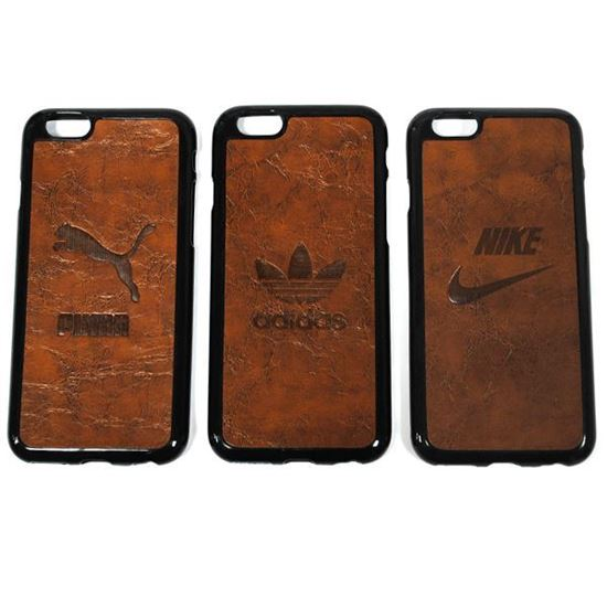 Изображение Задняя панель для iPhone 6 резиновая с кожей Puma коричневая