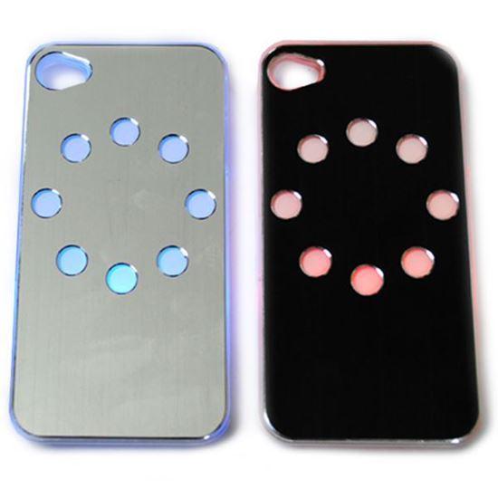 Изображение Задняя панель для iPhone 4/4S световая алюминиевая Круг чёрная
