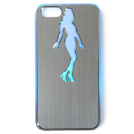 Изображение Задняя панель для iPhone 5/5S световая алюминиевая Девушка серебристая