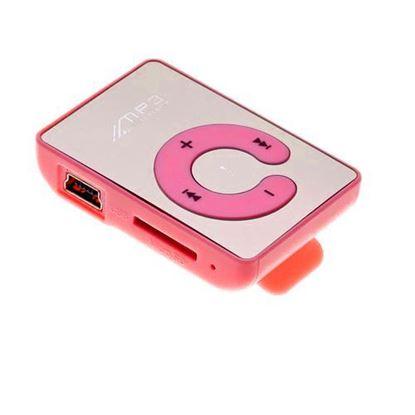 Изображение MР3 плеер RK-302b (слот microSD, прищепка) зеркальный розовый