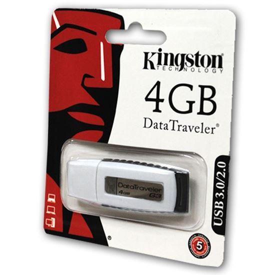 Изображение USB накопитель Kingston 4Gb бело-чёрный