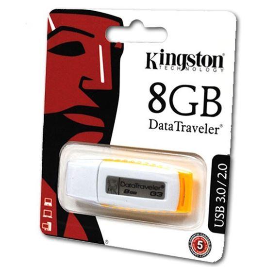 Изображение USB накопитель Kingston 8Gb бело-жёлтый