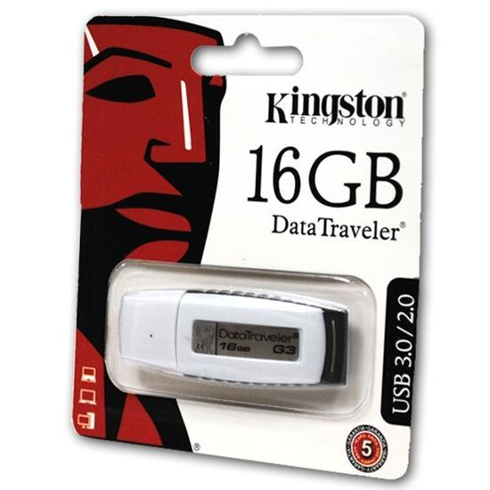 Изображение USB накопитель Kingstоn 16Gb бело-чёрный