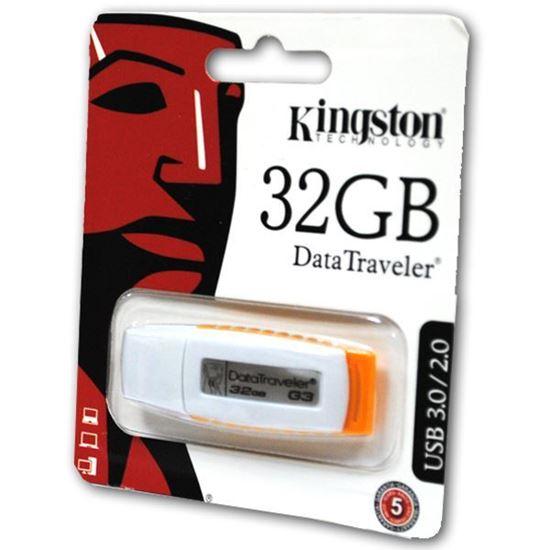 Изображение USB накопитель Kingstоn 32Gb бело-жёлтый