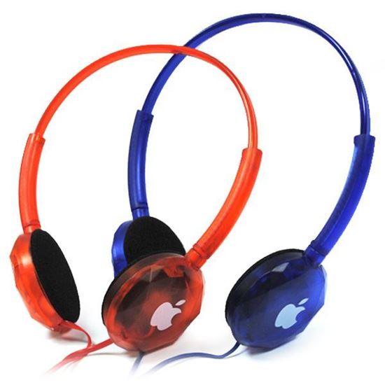 Изображение Гарнитура накладная iPhone MS-168 (MP3, iPod, iPhone, Samsung) в блистере синяя