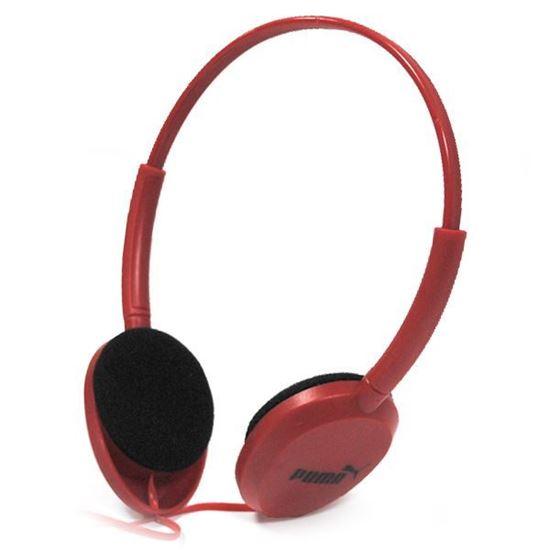 Изображение Гарнитура накладная PUMA MS-169 (MP3, iPod, iPhone, Samsung) в блистере красная